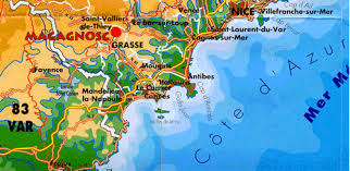 map of antibes grasse map to lou candelou bed and breakfast