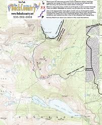 Desolation Wilderness Map Echo Peak The Backcountry