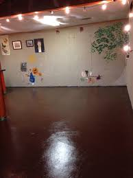 my unfinished basement cement walls cement floors glossy