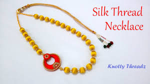 necklace designs making images Diy how to make simple designer silk thread necklace at home jpg
