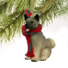 akita and black howliday ornament products
