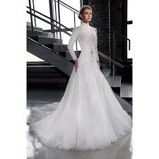 wedding dress online shop find a white tulle muslim wedding dresses beaded lace high neck