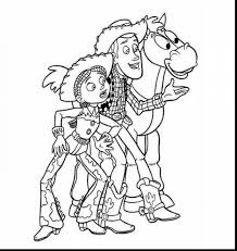 spectacular jessie from toy story coloring pages with woody