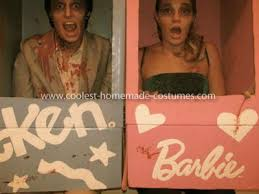 Barbie Ken Halloween Costume Coolest Zombie Barbie Ken Couple Costume Couple Costume