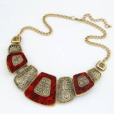 fashion jewelry necklace wholesale images European and american fashion simple geometric metal necklace fan jpg