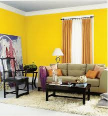 modern living room interior decorating ideas with yellow color
