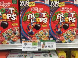 kellogg u0027s froot loops 0 29 free pop tarts at