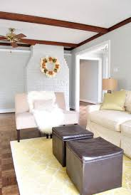 huzzah we painted the wood trim in our living room young house
