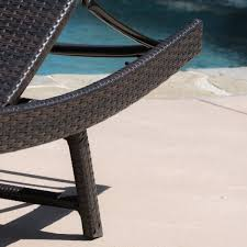 Outdoor Chaise Lounge Chair 2pc Ergonomic Wicker Outdoor Chaise Lounge Chairs