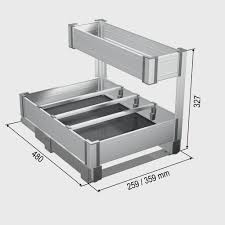 panier coulissant pour meuble de cuisine amnagement de placard de cuisine amnagement placard chambre