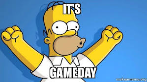 Game Day Meme - it s gameday happy homer make a meme
