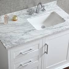 Ariel By Seacliff Nantucket  Alpine White SingleSink Bathroom - White single sink bathroom vanity