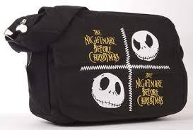 buy tim burton messenger bag black white shoulder bag