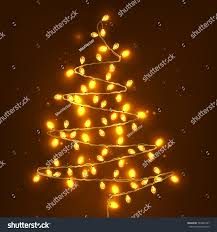 tree made lights realistic stock vector