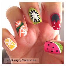 diy fruit nails thecraftyninja com nail art pinterest chang