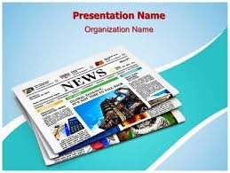 newspapers print media powerpoint template background