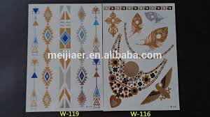 blue metallic tattoo ink newest temporary gold silver tattoos 15