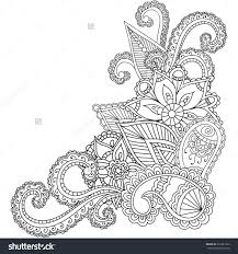 pen illustration printable coloring page zentangle inspired henna