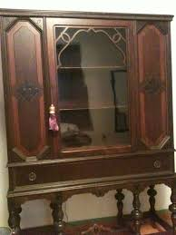 cream and black antique buffet and china cabinet u2013 tuesday u0027s