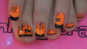 cute halloween nails spider and web toe nail art tutorial for halloween youtube