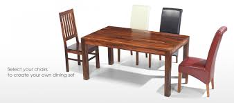 4 Chairs In Living Room by Cube Sheesham 140 Cm Dining Table And 4 Chairs Quercus Living