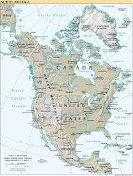 North America Map Detailed maps of north america