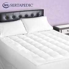 sertapedic superior loft down alternative mattress pad ebay