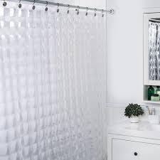 splash peva u0027carrele u0027 shower curtain clear kitchen stuff plus