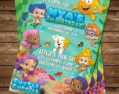 bubble guppies invitation free backside u0026 thank you card new