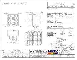 ldm 08288mi led displays thru hole dot matrix 8 x 8 80 lumex