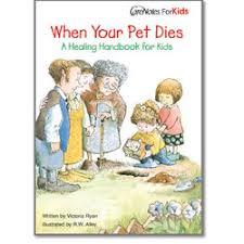 when a pet dies when your pet dies a healing handbook for kids healing baskets