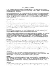 How To Write A Profile For A Resume How Do Write A Resume Manager Resume Examples