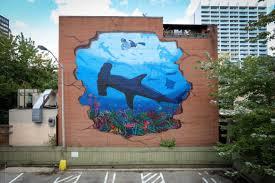 shark mural melbourne fl wall murals you ll love shark mural melbourne fl wall murals you ll love