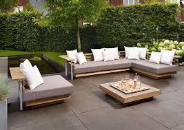 canapé teck jardin salon canape de jardin en teck stunning photos amazing house