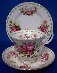 Flower Of The Month Albert U0027flowers Of The Month U0027 Tea Cup Trio June Roses