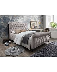 Upholstered Sleigh Bed Get The Deal Furniture World Monet Upholstered Sleigh Bed With