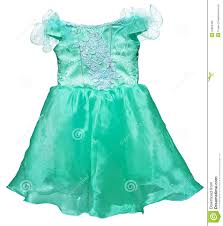 simple green dress for little on white stock photography