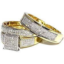 yellow gold wedding ring sets his wedding rings set trio 14k white