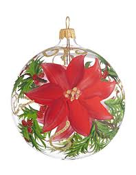 brands trim shop glass poinsettia ornament lord and