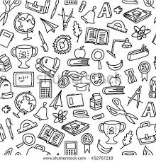 doodle vectors free freehand drawing school pattern seamless doodle stock vector