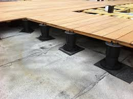 Rooftop Deck Design by Adjustable Pedestal Decking Systems All Decked Out