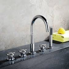 Bathroom Plumbing Fixtures Bathroom Bathtub Mixer With Pull Out Held Shower Chrome