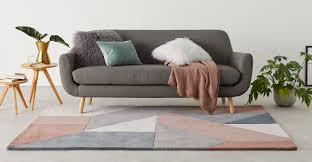 pink neutral rug large wool geometric 160 x 230cm holden made com