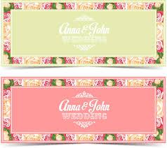 flower wedding invitation card vector template vector card