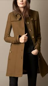 burberry wool twill trench coat in natural lyst