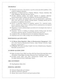 Pharmaceutical Resume Template Download Regulatory Affairs Resume Sample Haadyaooverbayresort Com