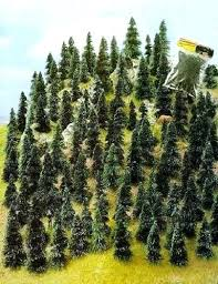 small pine trees n z scale one hundred pine fir trees small