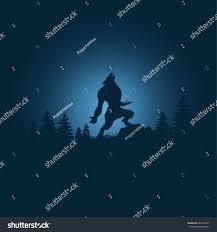 halloween silhouette background werewolf silhouettehalloween night background werewolfvector
