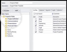 predefined document folder templates docsvault