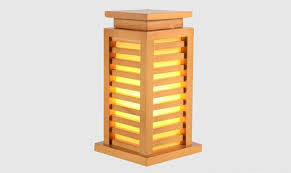 Small Decorative Desk Lamp Japanese Style Wood Table Lamp Nightlight Home Decorative Design